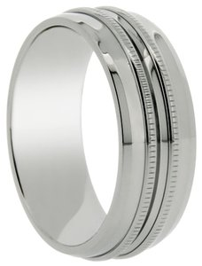 Other Titanium ring with carved miligrain center design