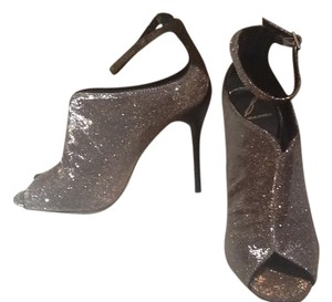 Brian Atwood Barely Worn Ankle Strap Size 7 Silver/Gold Boots