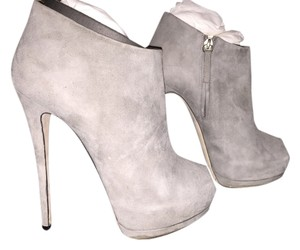 Giuseppe Zanotti Suede Platforms Grey Boots