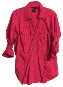 Lane Bryant Button Down Shirt Pink