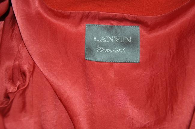 Lanvin Wool Cotton Size 38 Made In Italy Coat