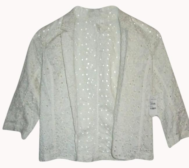 Preload https://item1.tradesy.com/images/frenchi-for-nordstrom-eyelet-light-weight-ivory-blazer-996130-0-0.jpg?width=400&height=650