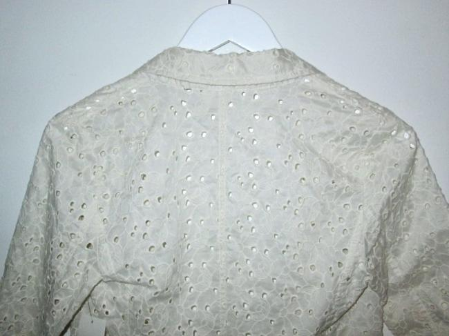 Frenchi for Nordstrom Eyelet Light-weight Casual Comfortable Ivory Blazer