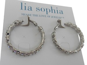 Lia Sophia Lia Sophia Fairy Tale Earrings Silver Crystal Aurora Borealis