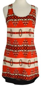 Peppermint short dress Red / Black on Tradesy
