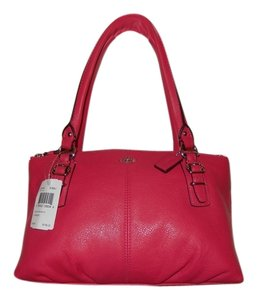 Coach Brand New Leather Pink Satchel in Pink Ruby