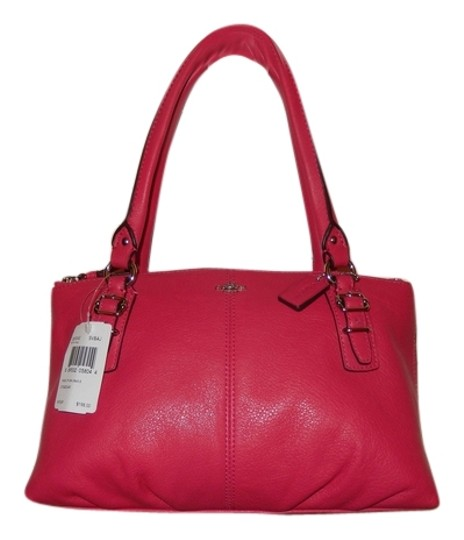 Preload https://item1.tradesy.com/images/coach-pink-ruby-leather-satchel-9961690-0-2.jpg?width=440&height=440