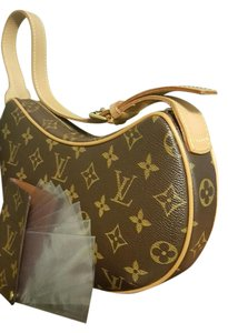 Louis Vuitton Wallet Hobo Monogram Leather Shoulder Bag