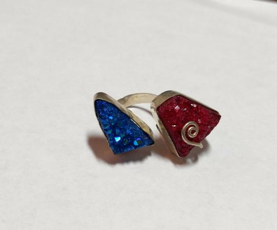 Other Druzy Agate Gemstone Ring One Size 8 Sterling Silver A192