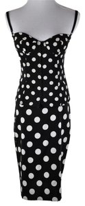 Dolce&Gabbana Pokla Dot Silk Suite Pencil Skirt and Bustier