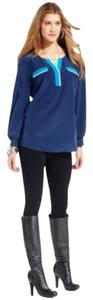 Style & Co Top MEDIEVAL BLUE