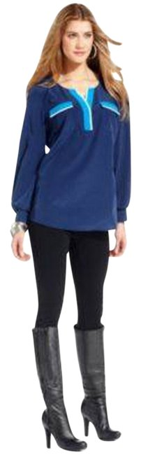 Preload https://img-static.tradesy.com/item/996208/style-and-co-medieval-blue-style-and-co-long-sleeve-colorblock-high-low-blouse-size-6-s-0-0-650-650.jpg
