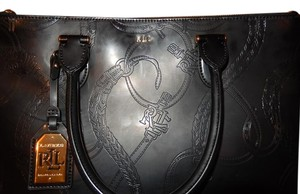 Ralph Lauren Gold Hardware Tote in black