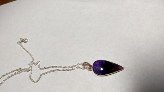 Other Amethyst Stone Necklace Sterling Silver A039