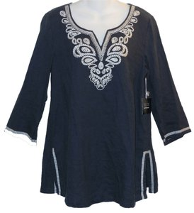 Saks Fifth Avenue Embroidered Linen Casual Tunic