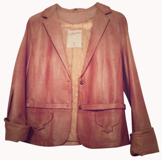Aeropostale Leather Soft Leather New Brown Leather Jacket