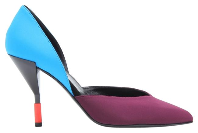 Pierre Hardy Purple/Blue Neoprene Color Block Pumps Size US 7 Regular (M, B) Pierre Hardy Purple/Blue Neoprene Color Block Pumps Size US 7 Regular (M, B) Image 1