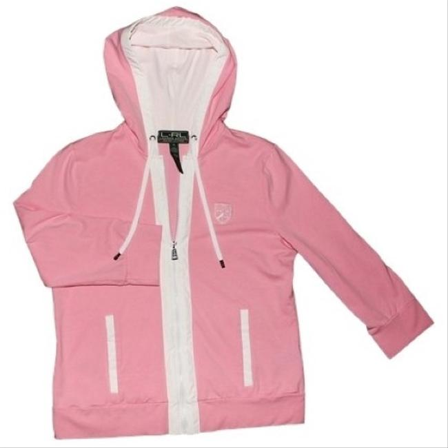 Preload https://item1.tradesy.com/images/ralph-lauren-pink-and-white-activewear-hoodie-size-8-m-29-30-9963115-0-2.jpg?width=400&height=650
