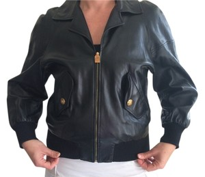 Chanel Moto Vintage Bomber Leather Leather Jacket