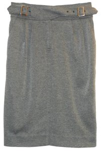 Maeve Jersey Belted Pencil Skirt Gray