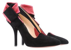 O JOUR Black Red Black/Red Pumps