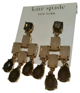 Kate Spade KATE SPADE NEW YORK Smokey Brown Colored Chandelier Earrings NEW With TAGS