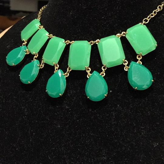 Kate Spade Kate Spade Two Tone Green Crystal Necklace