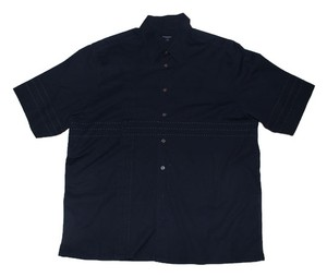 Burberry London Blue Button-up Button Down Shirt Navy