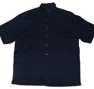 Burberry London Burberry Men's Zegna Button Down Shirt Navy
