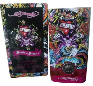 Ed Hardy NEW Ed Hardy Hearts & Daggers -Woman Eau De Parfum Spray 1.7 Oz.