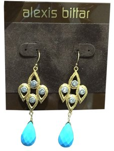 Alexis Bittar Alexis Bittar Turquoise And Two Tone Drop Earrings