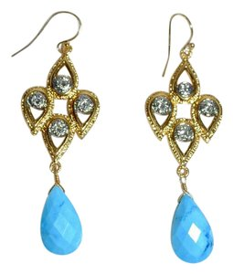 Alexis Bittar Alexis Bittar Elements Turquoise Swarorovski Crystal Drop Earrings