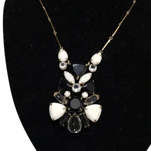Kate Spade Kate Spade Black And White Cluster Crystal Necklace