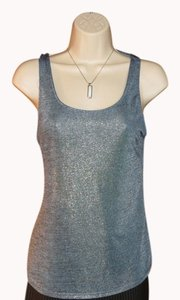 Charlotte Russe Top METALLIC BLUE