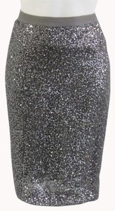 J.Crew Sequin Pencil Skirt Gunmetal