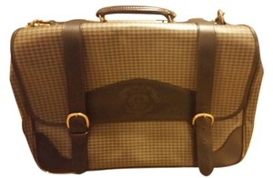 Ghurka Double Strapped Like A Traditional Satchel Very Nice Lines Very Sturdy Yet Not Heavy Hounds tooth in black and grey Travel Bag