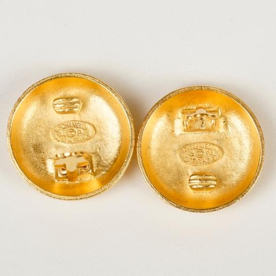 Chanel Chanel Gold Round CC Earrings