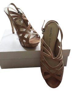 Marc Fisher Natural Tan Platforms
