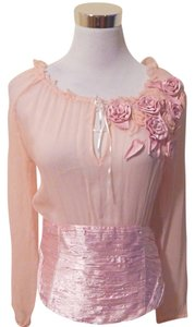 EBENE BY PATRICK ASSULINE & Silk Top PINK CHIFFON