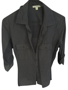James Perse Cotton James Button Down Shirt Blue/Gray