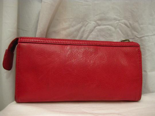 Marc by Marc Jacobs MARC BY MARC JACOBS LEATHER CLUTCH WALLET W/ 2 FRONT POCKETS
