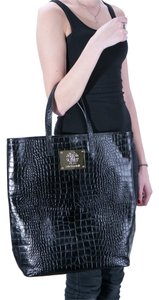 Roberto Cavalli Leather Snakeskin Shoulder Bag