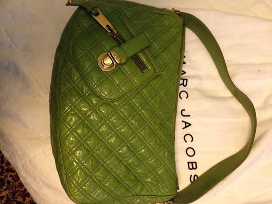 Marc Jacobs Quilted Patent Leather Hobo Bag