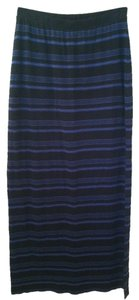 Splendid Maxi Skirt Black Bright Blue