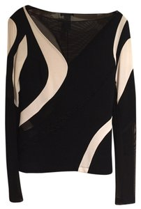 Donna Karan Top Black / White