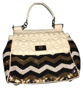 Sharif Satchel in White/ Multi Color