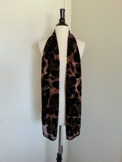 J.Crew J.Crew, Chocolate Brown Burnout Oblong Scarf