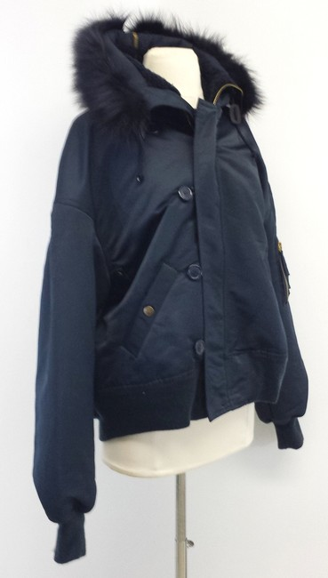 Jean-Paul Gaultier Navy With Fur Fur Trim Fur Trim Jacket