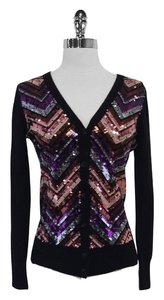 Trina Turk Wool Sequin Cardigan