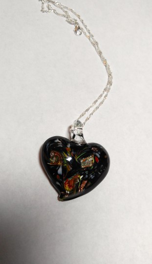 Other Blown Glass Pendant on Sterling Silver Chain Necklace A033